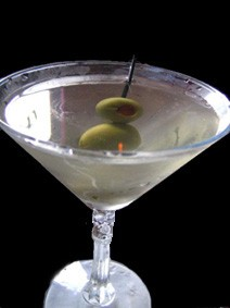 martini in a glass