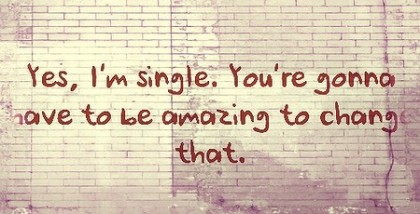 I love being single