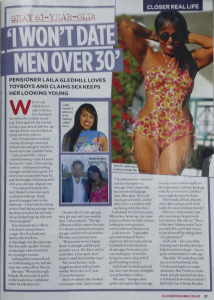 Laila Gledhill Talks with Closer Magazine about her Toyboy Lifestyle