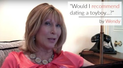 Wendy Salisbury on whether she'd recommend dating a toyboy