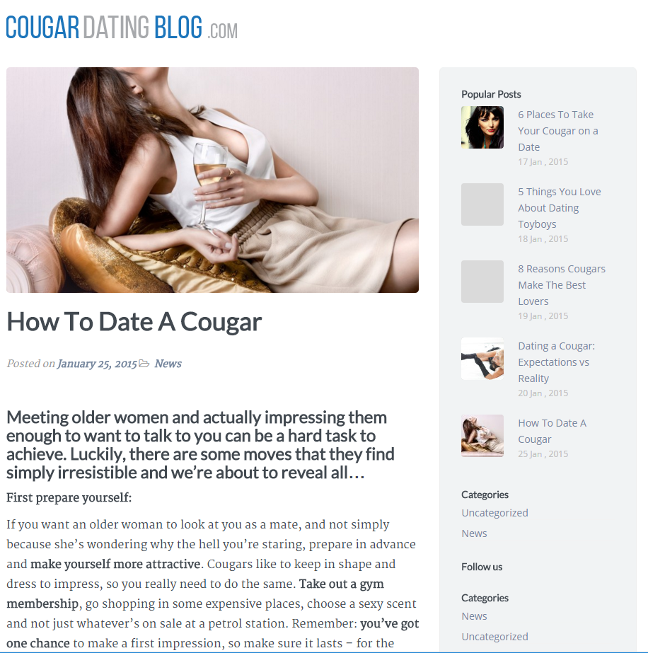 Cougar Dating BLog